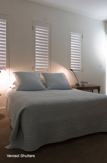 Verosol Timber Shutters | Flexitrack Furnishings
